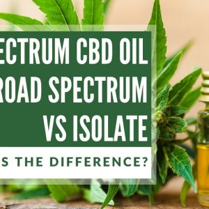 The Difference Between Full Spectrum, Broad Spectrum, and Isolate CBD Extracts