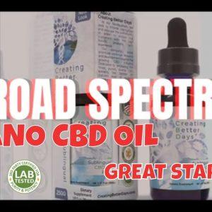 Broad Spectrum Sublingual Oil Tincture, Creating Better Days CBD Oil, stress | CBD Headquarters