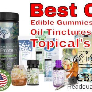 Top CBD edibles, Oils, Topical that are lab tested by | CBD Headquarters, largest selection on east