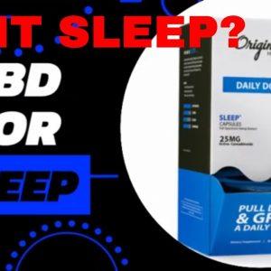 Insomnia, CBD for sleep?  Original Hemp Dr formulated CBD capsules under $5 | CBD Headquarters