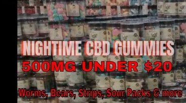 Best CBD Gummies under $20 500mg for Stress, Sleep, Anxiety, Depression, Pain